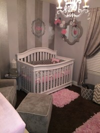 Gray, White and Pink Nursery