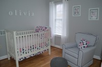 Pink and Navy Blue - Olivia, We Love You! - Project Nursery