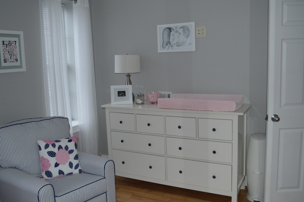 Pink and Navy Blue  Olivia We Love You  Project Nursery