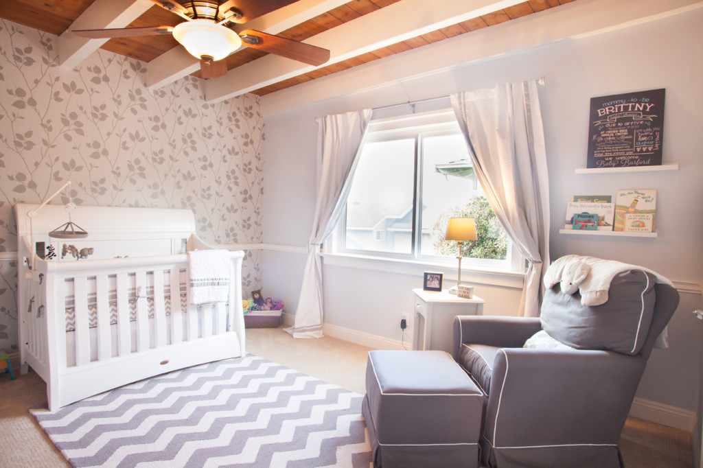 Pinterest Girls Kids Rooms With Wood Wallpaper Readers Favorite Modern Gray And White Nursery Project