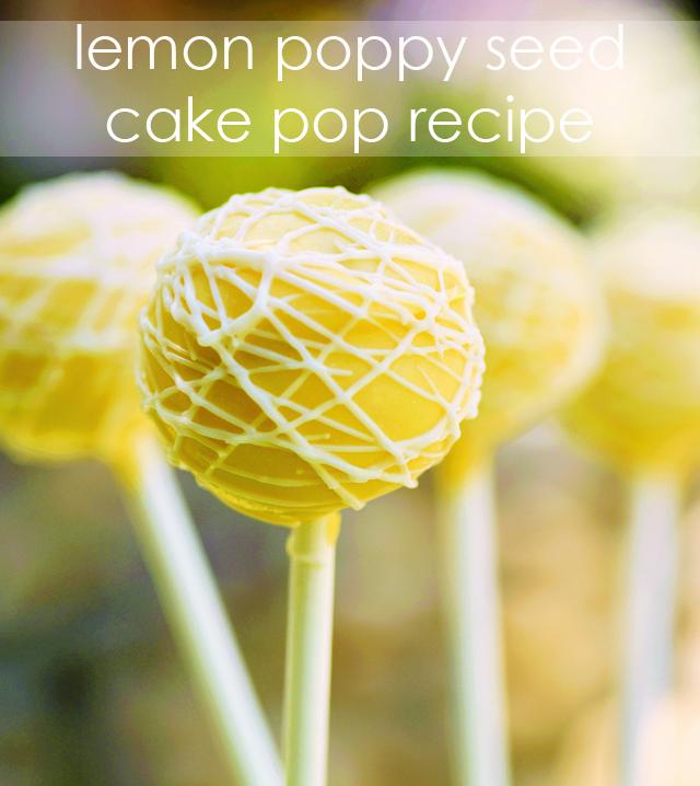 Lemon Poppy Seed Cake Pop Recipe - Project Nursery