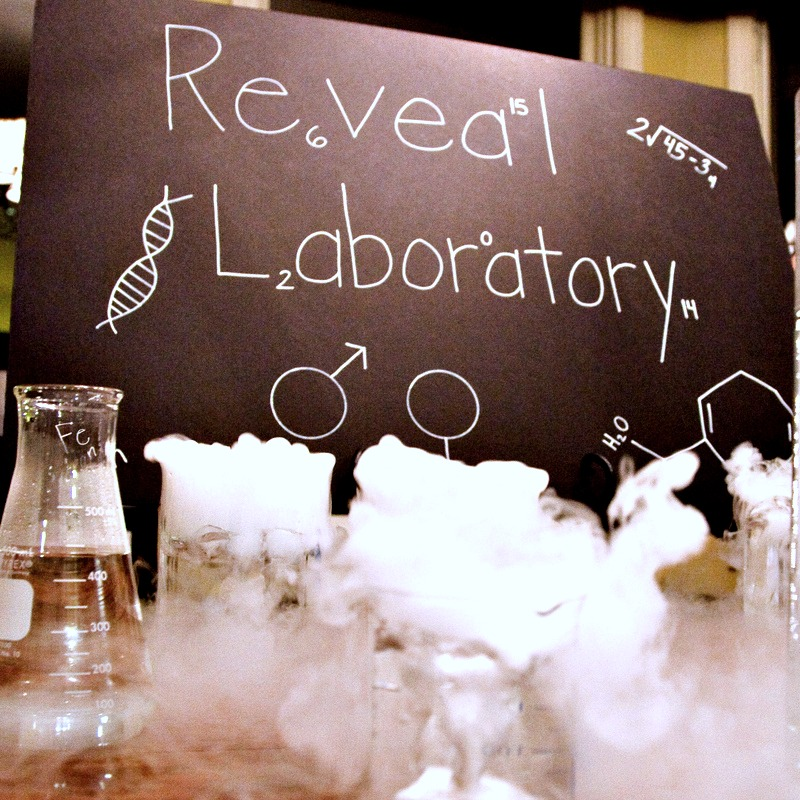 science themed gender reveal