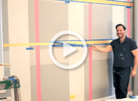 DIY: How to Paint a Plaid Accent Wall - Project Nursery