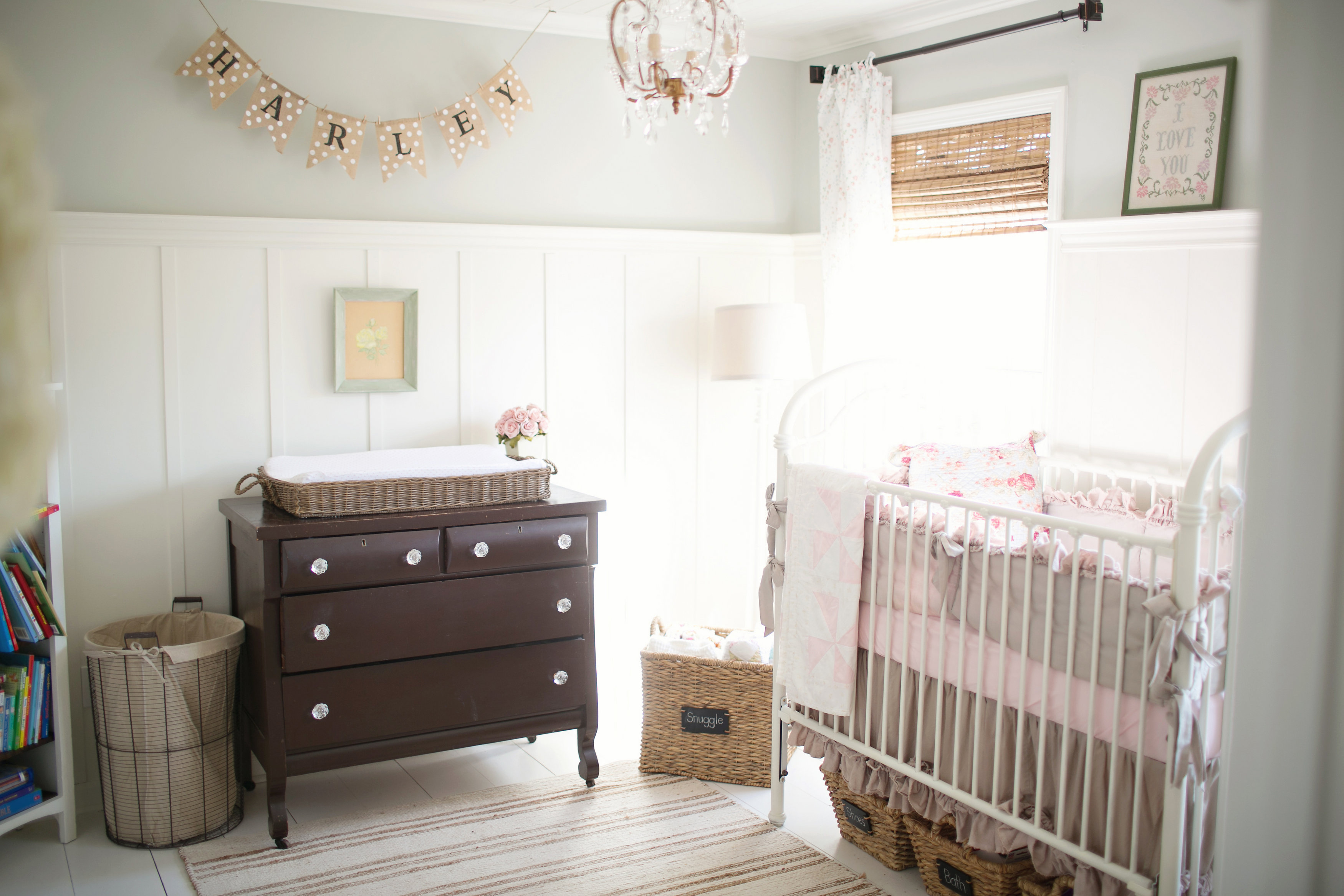 Vintage Farmhouse Chic Nursery For Harley Chapel