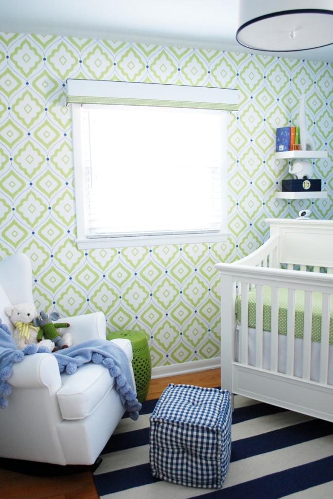 Daniels Lime Green and Blue Nursery  Project Nursery