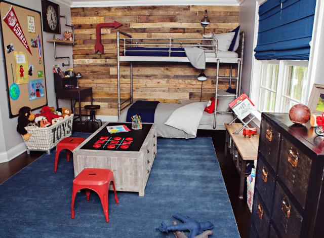 RH Baby  Child IndustrialVintage Boys Room Makeover