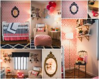 Coral, Navy and Gold Girls Nursery - Project Nursery
