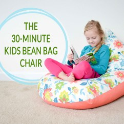 What Size Bean Bag Chair Do I Need With Leg Rest Diy Sew A Kids In 30 Minutes Project Nursery