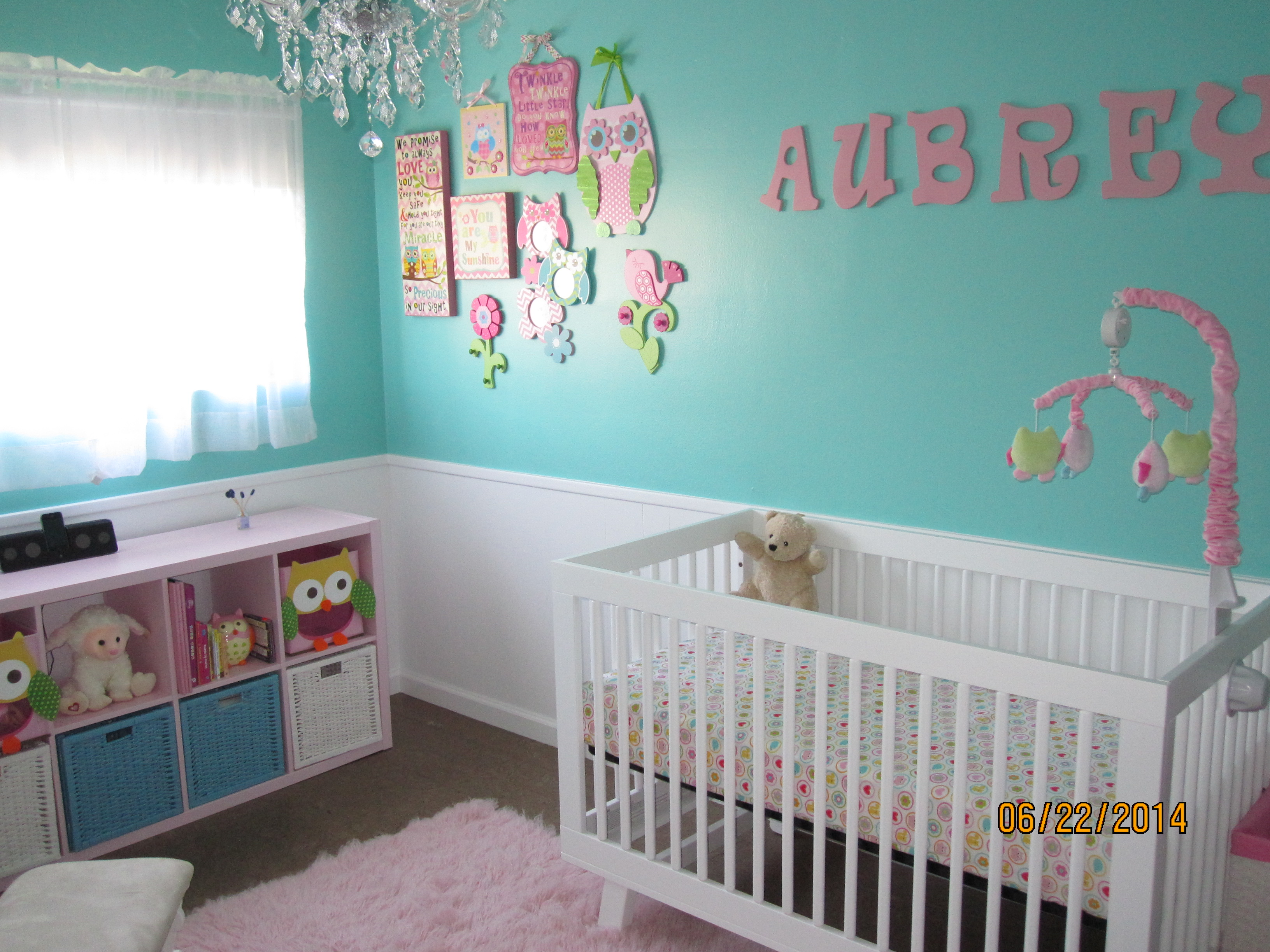 Aubreys Tiffany Blue and Pink Owl Nursery  Project Nursery