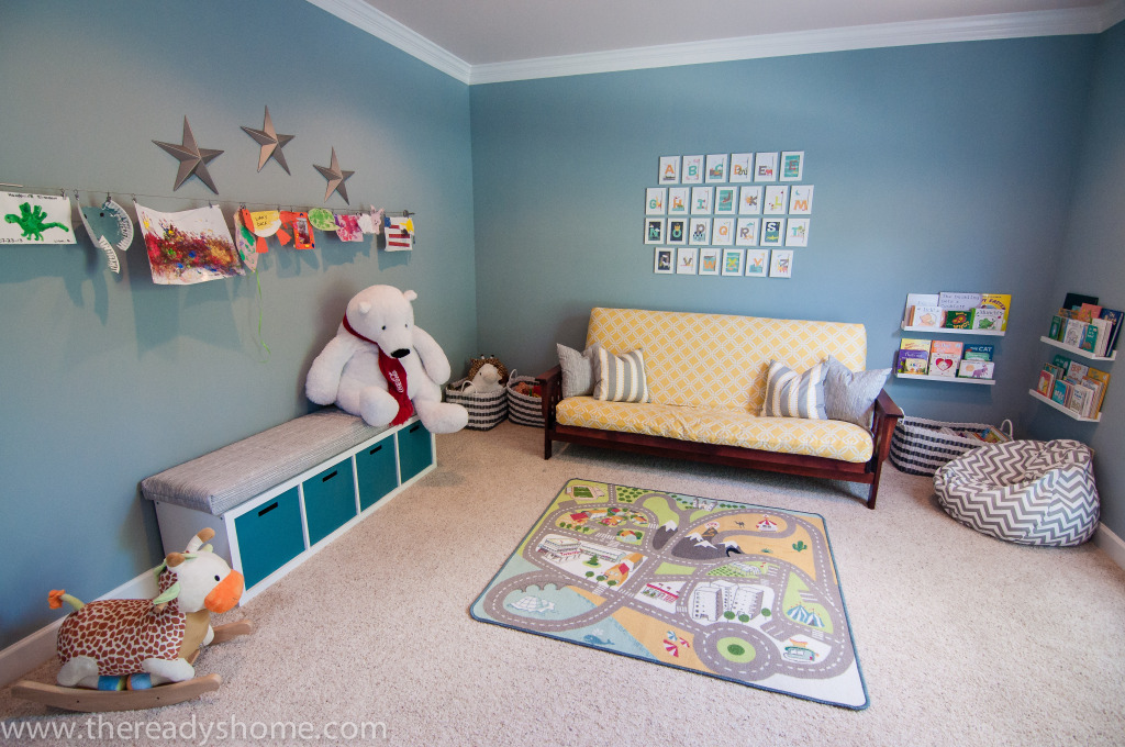 diy bean bag chair cover kitchen cushions canada living room turned playroom - project nursery