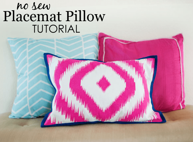 diy no sew placemat pillow project