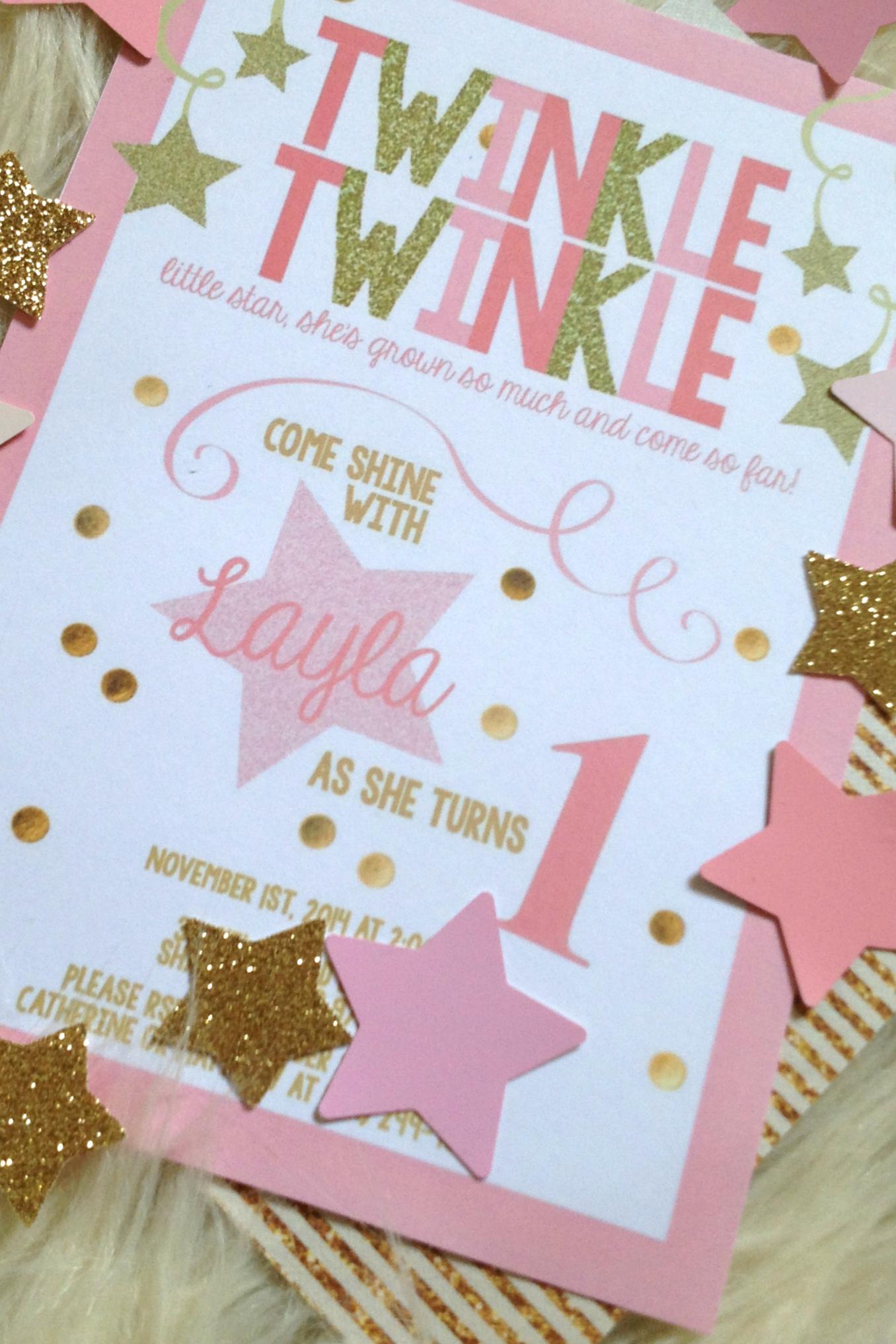 Laylas Pink Amp Gold Twinkle Twinkle Little Star 1st