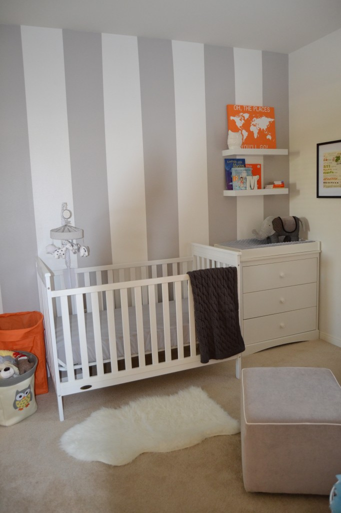 Grey White And Orange Nursery Project Nursery