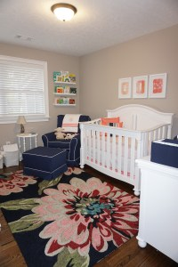 Navy and Coral Nursery for Sweet Maggie - Project Nursery