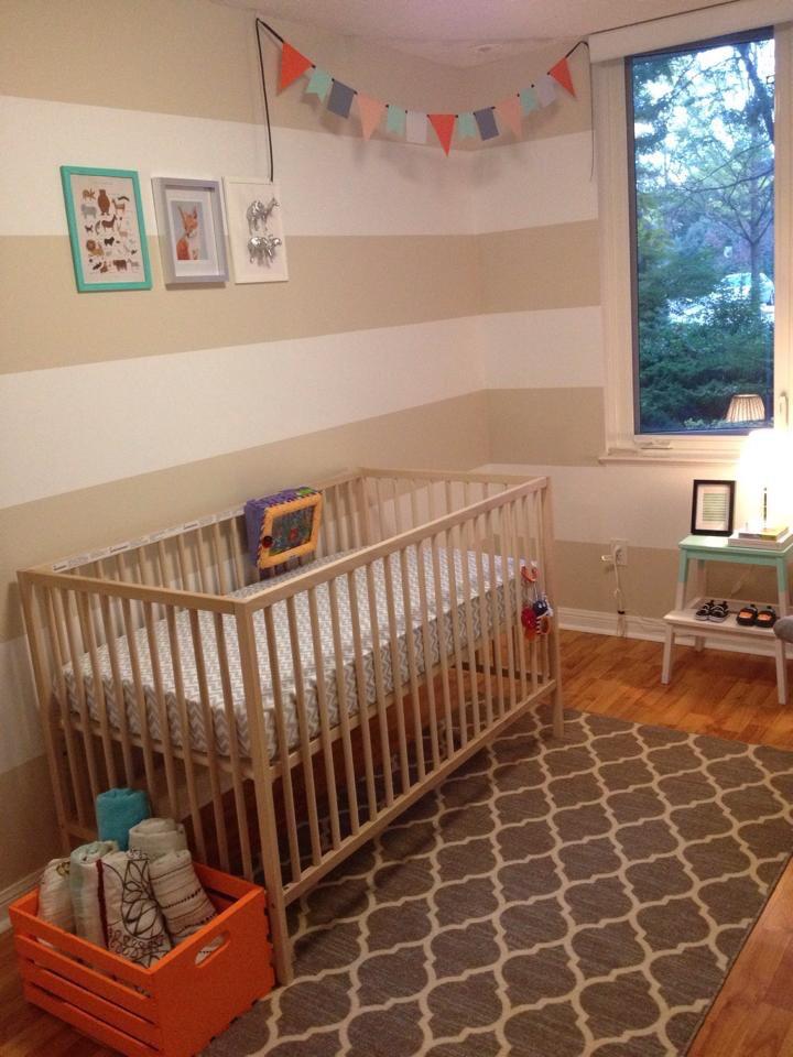 Austins Orange And Teal DIY Nursery Project Nursery