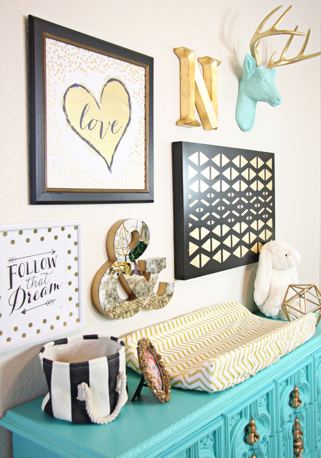 Nursery Gallery Wall With Love Art Print Project