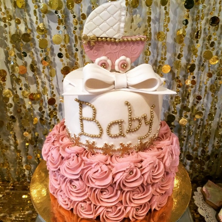 Baby it's Cold Outside Pink and Gold Baby Shower