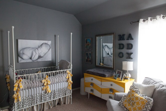 Baby Room Interesting Attic Gray Nursery With Beige Carpet And White Crib