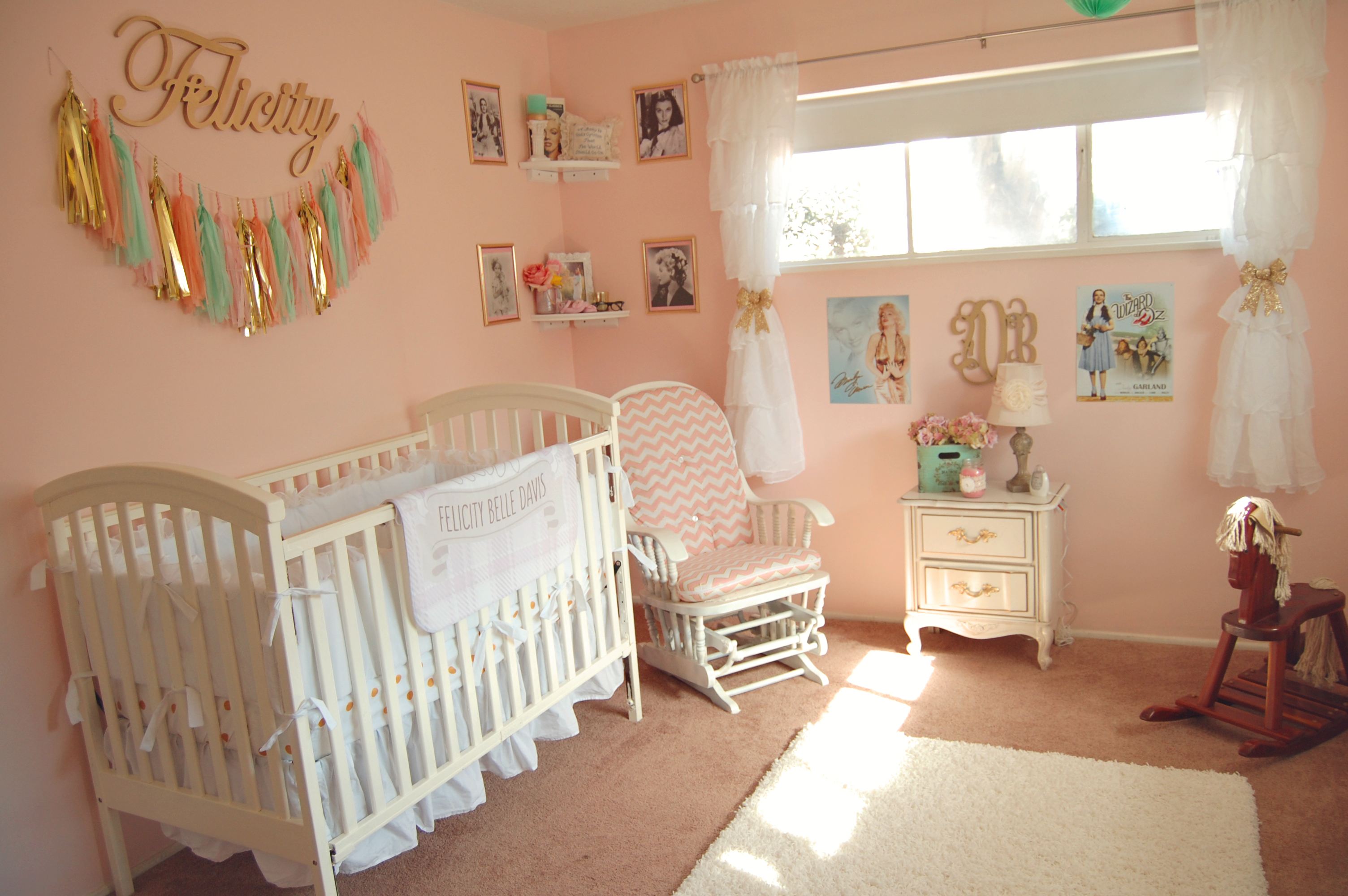 Vintage Hollywood Nursery For Felicity Belle
