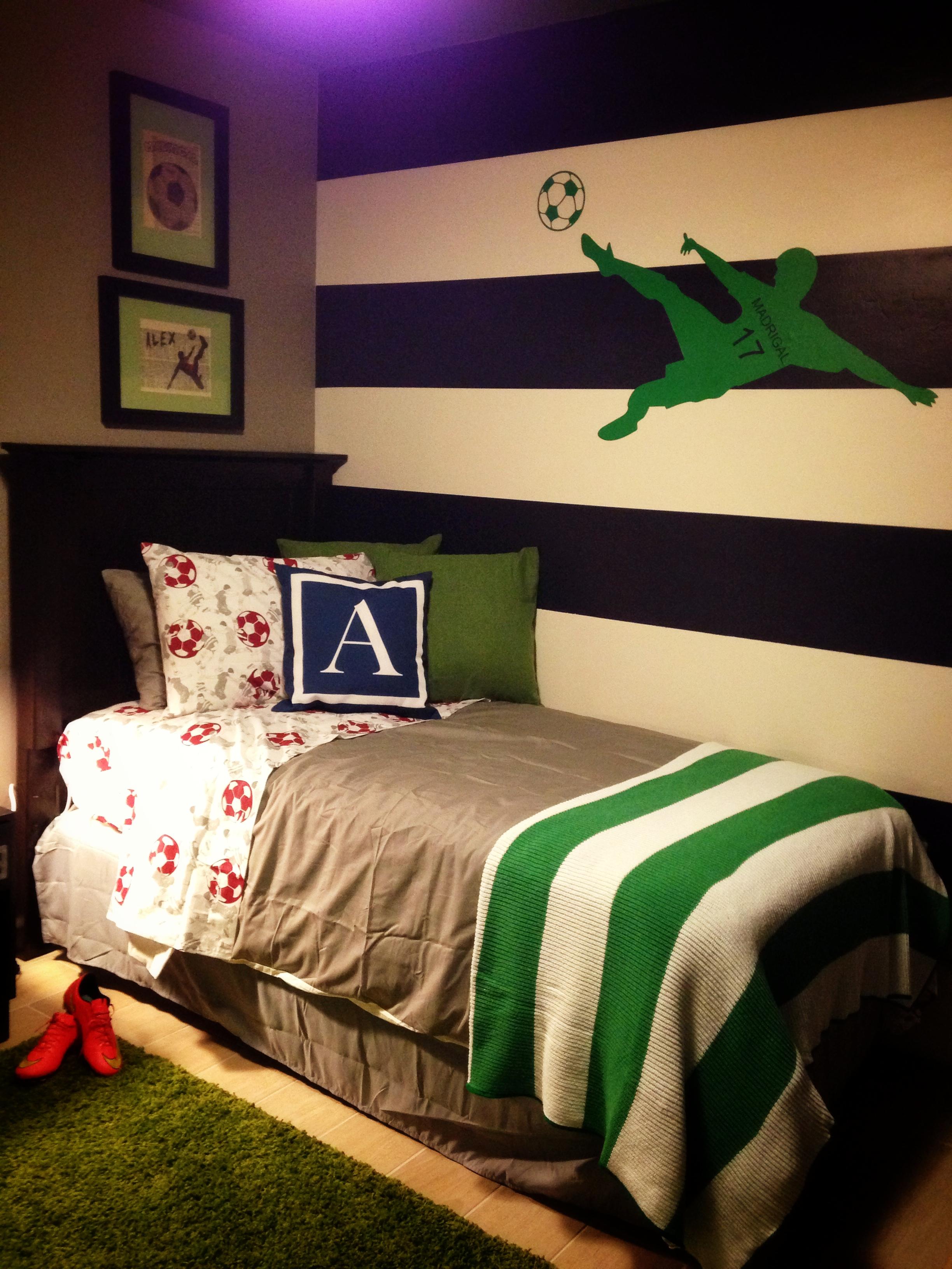 Boys Soccer Bedroom  Project Nursery