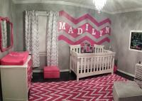 Gray, White and Hot Pink Chevron Nursery - Project Nursery