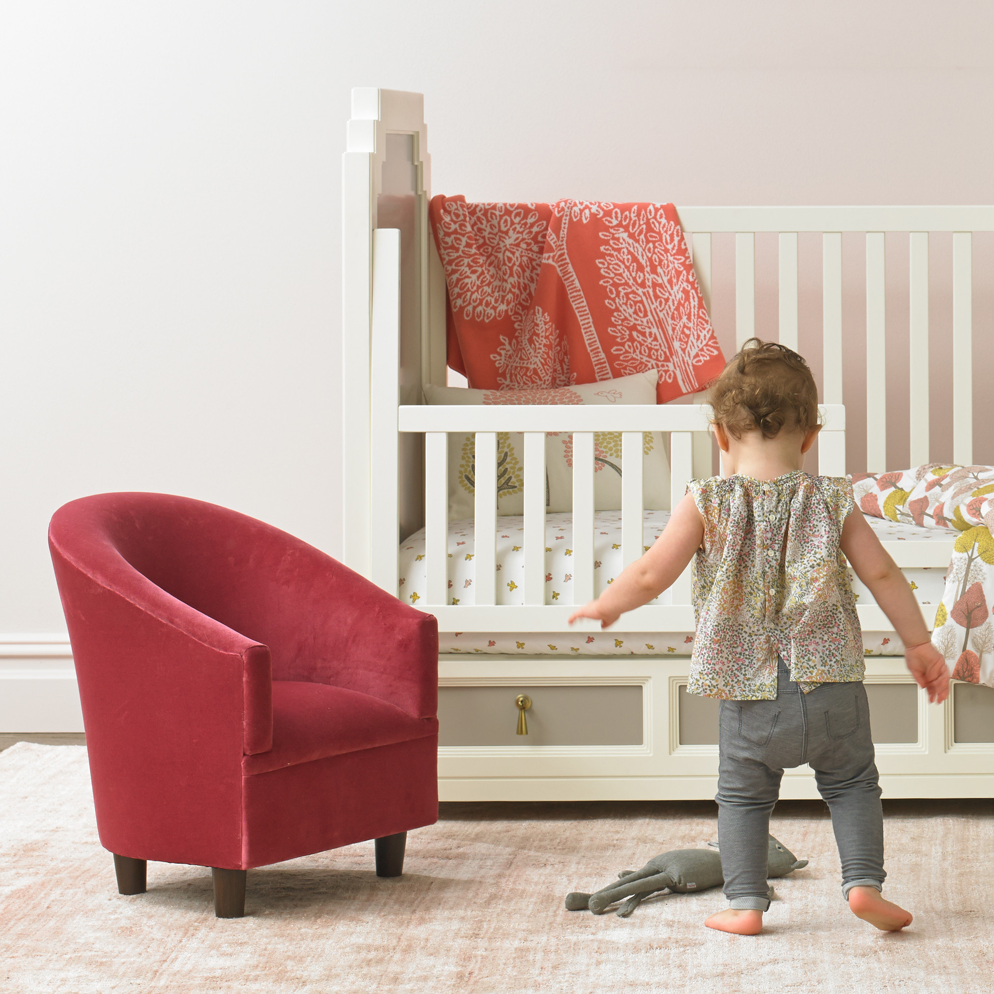 land of nod high chair doll metal cushions pint sized furniture that 39s on style project nursery