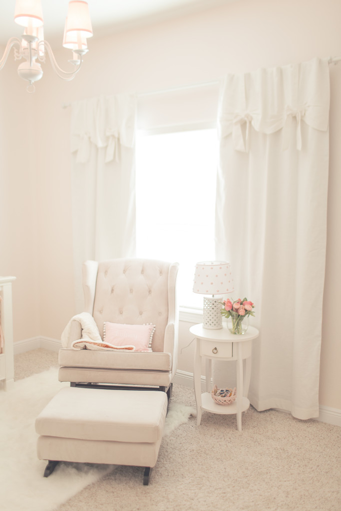 pottery barn baby chair covers in stores pink simplicity nursery - project