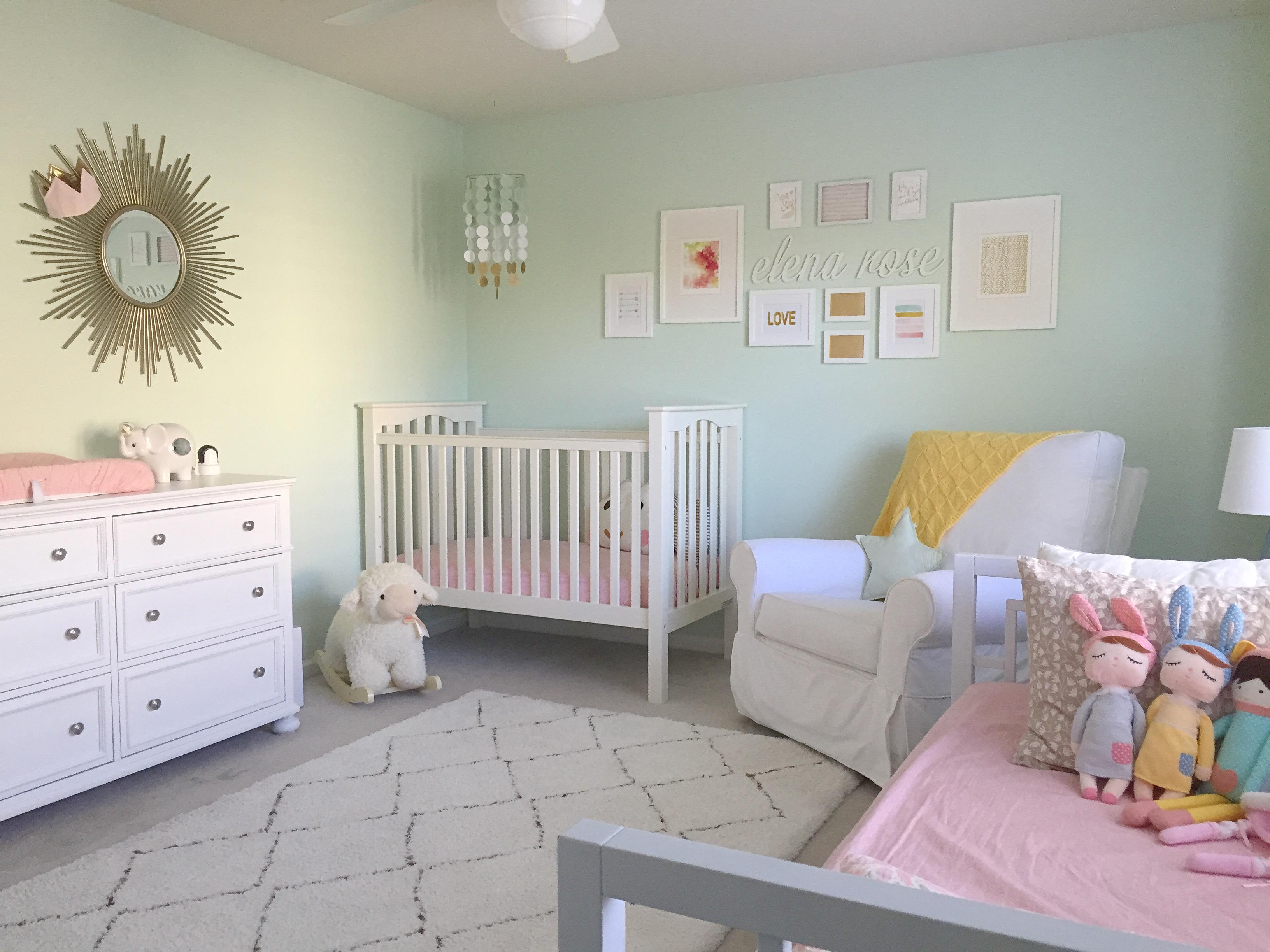 Elena's Mint and Pink Nursery