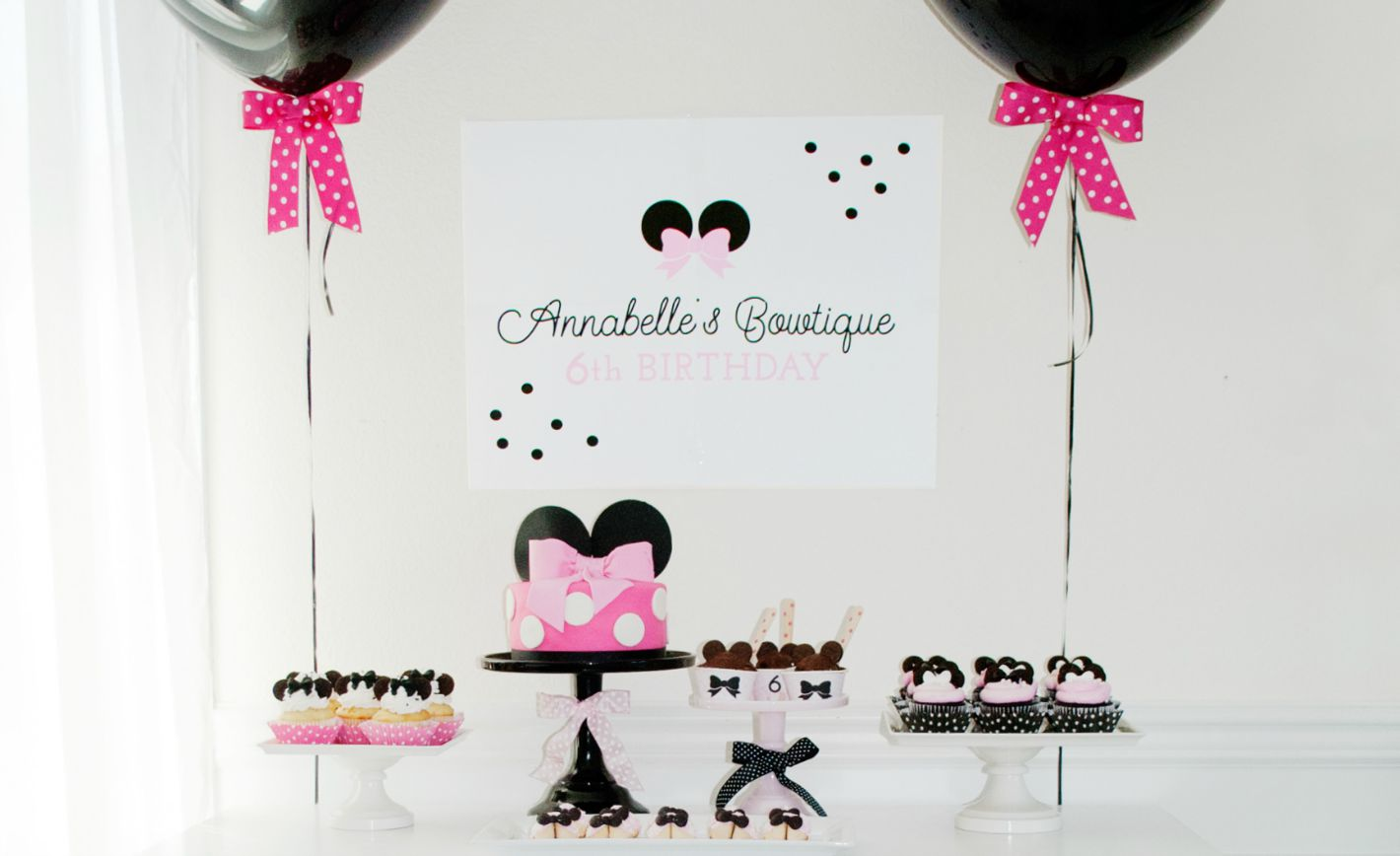 Minnie Mouse Bowtique Birthday Party Project Nursery