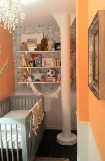 Baby Girl Bedroom Wallpaper Walk In Closet To Nursery Project Nursery