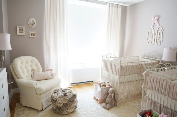 gray and pink twin girl bedroom ideas Tips for Decorating for Twins - Project Nursery