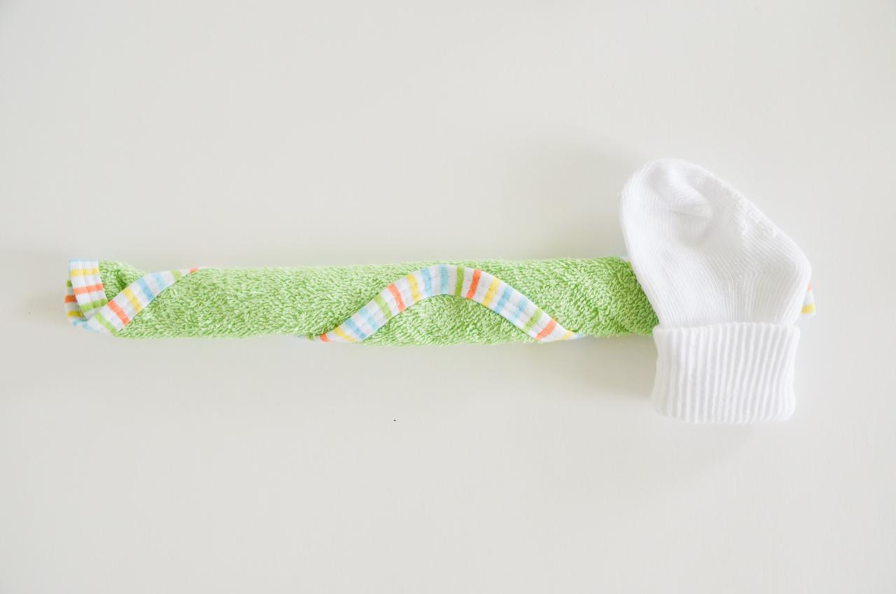 Baby Washcloth Cupcakes Tutorial