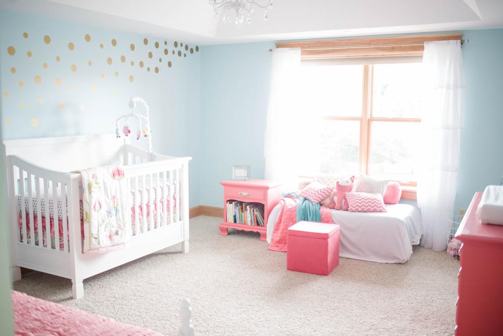 Coral and Aqua Baby Girls Nursery  Project Nursery