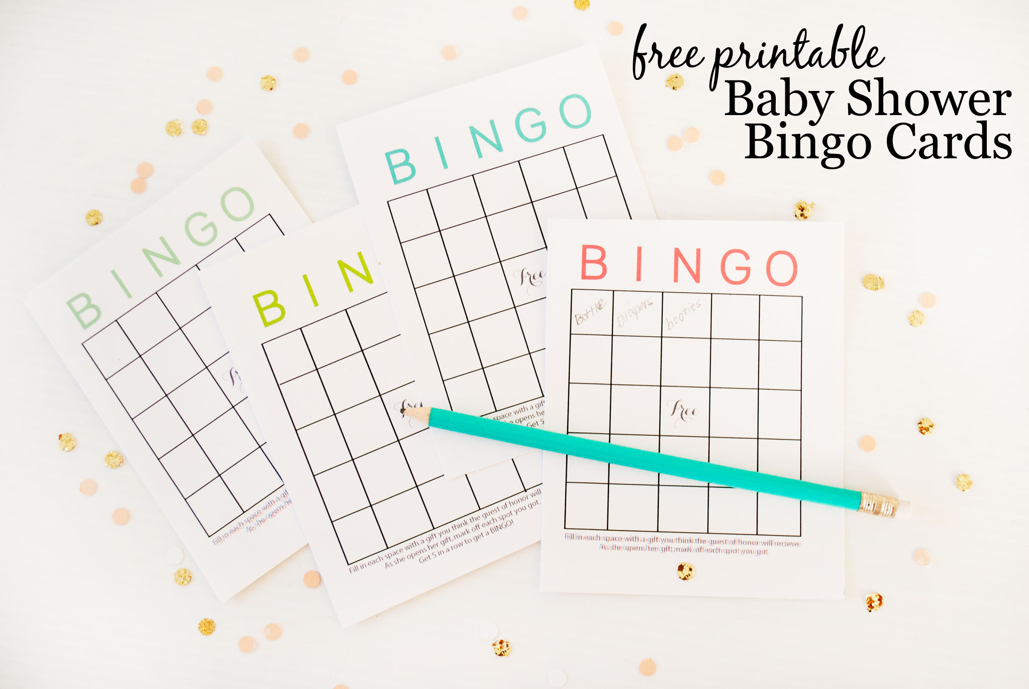 Free Printable Baby Shower Bingo Cards