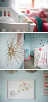 Coral and Aqua Baby Girl's Nursery! - Project Nursery