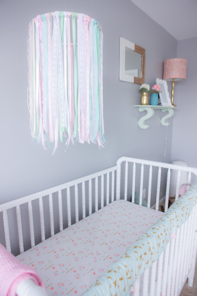 Pink Mint And Gray Baby Girl Nursery Project Nursery
