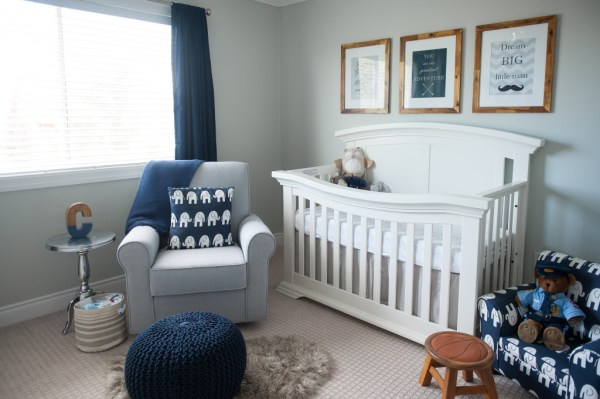 colson's navy & gray nursery