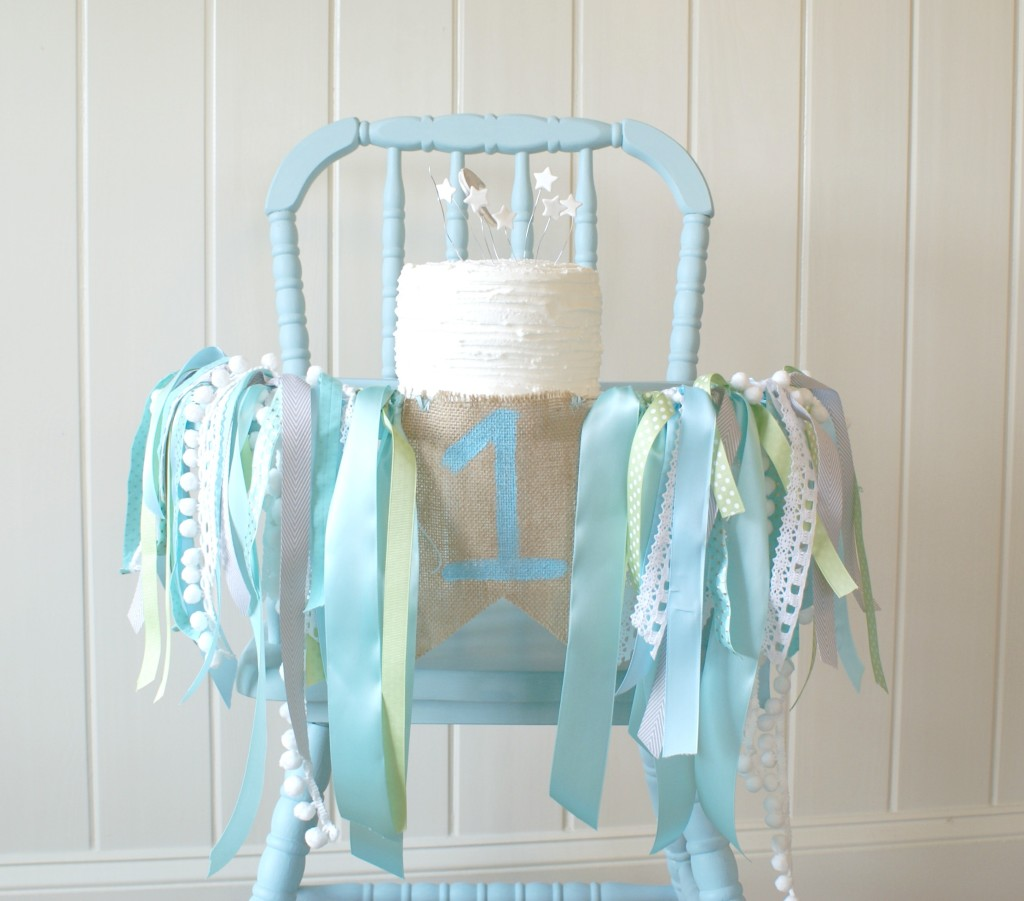 White Wood High Chair Henry 39s Guess How Much I Love You 1st Birthday Party
