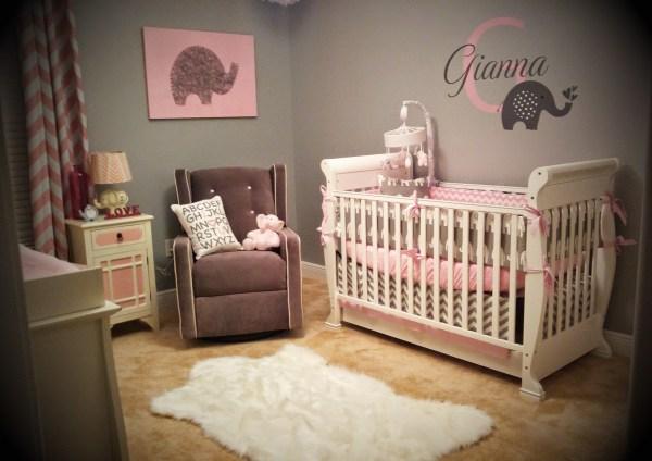 Baby Girl Nursery Pink Elephant