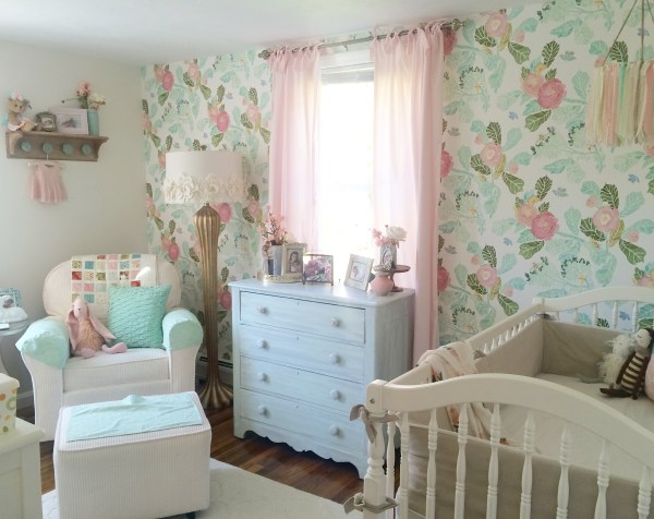Gold and Pink Shabby Chic Nursery