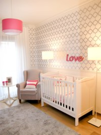 Love White, Gray and Pink Nursery