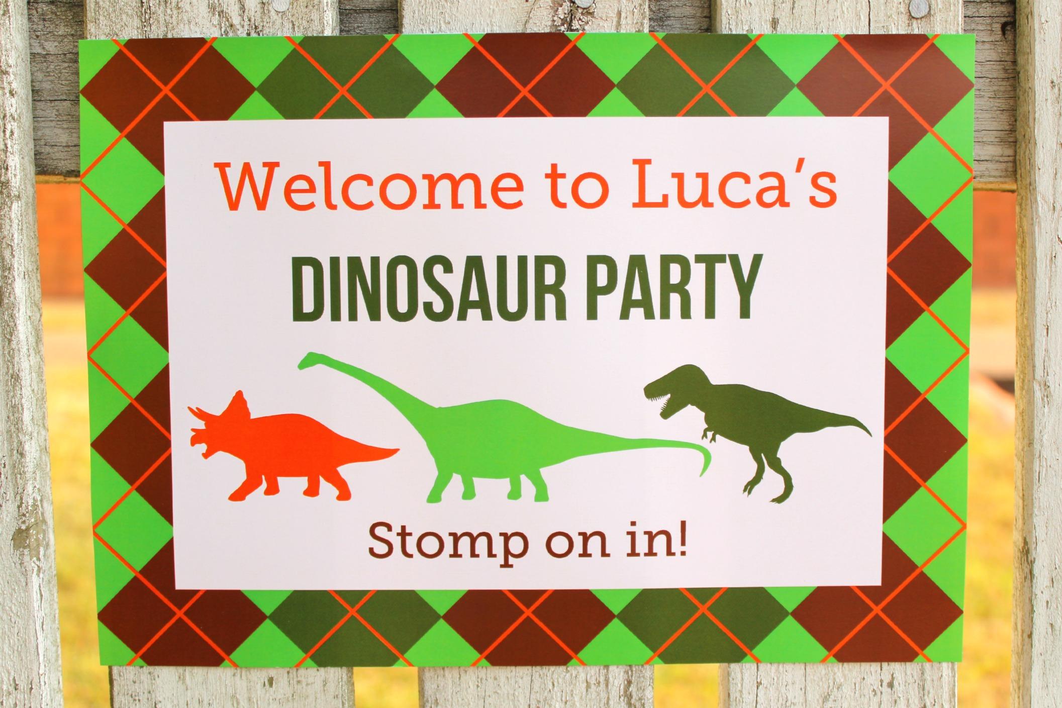Dino Mite Dinosaur 3rd Birthday Party