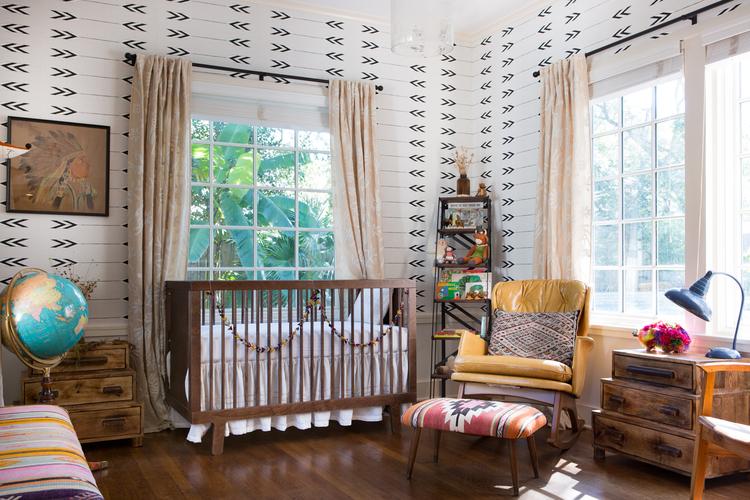 Teen Girl Bedroom One Wall Wallpaper Southwestern Nursery Decor Project Nursery