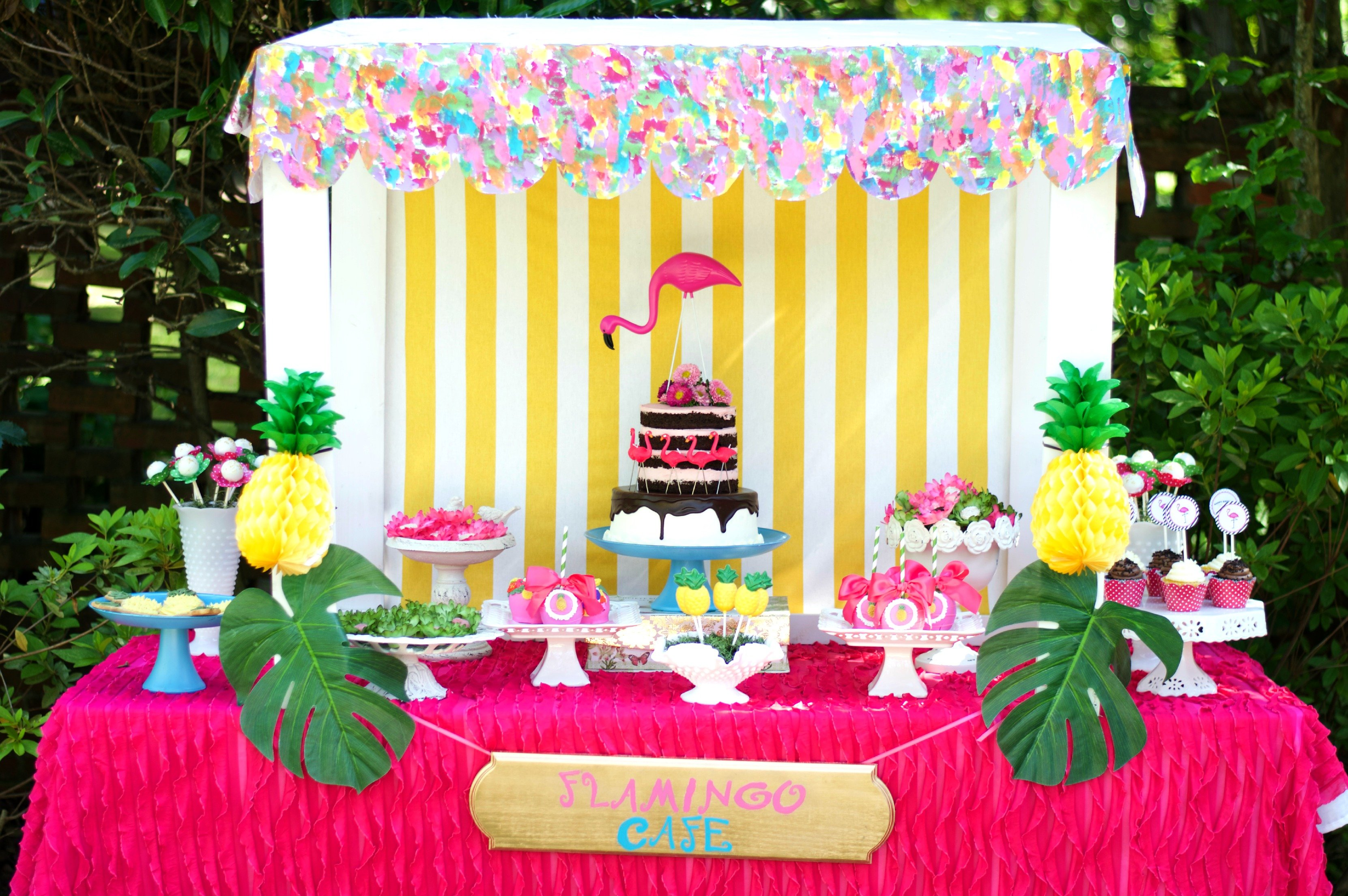 Flamingos And Pineapples Birthday Party