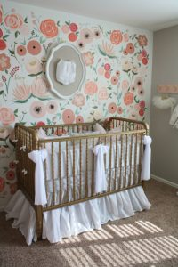 Hand Painted Floral Wall Mural Nursery - Project Nursery