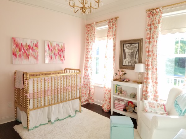 Baby Girl Nursery Pink and Gold