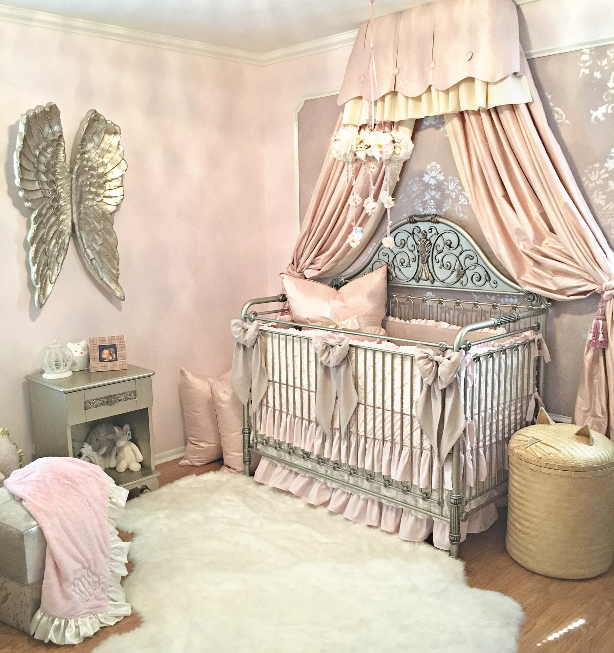 Harlow S Vintage Glam Blush Nursery