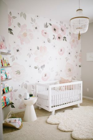 nursery floral watercolor pattern pink gray heaven match project loved scale instagram