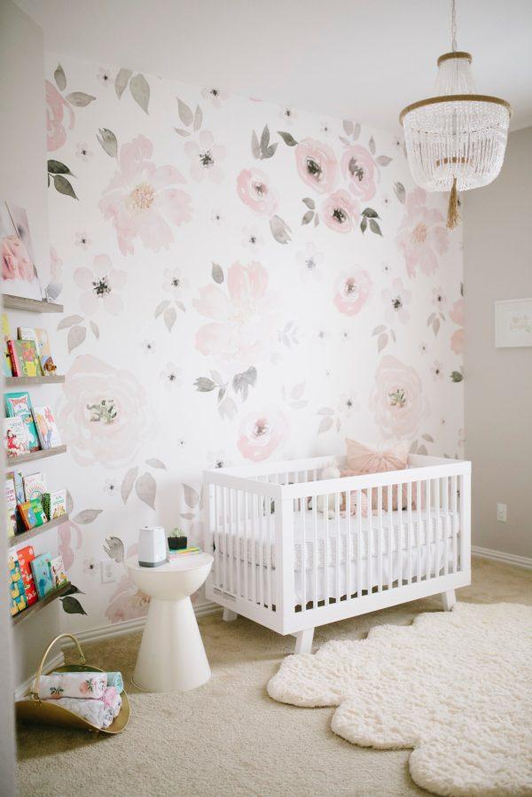 Floral Baby Girl Nursery Room Ideas