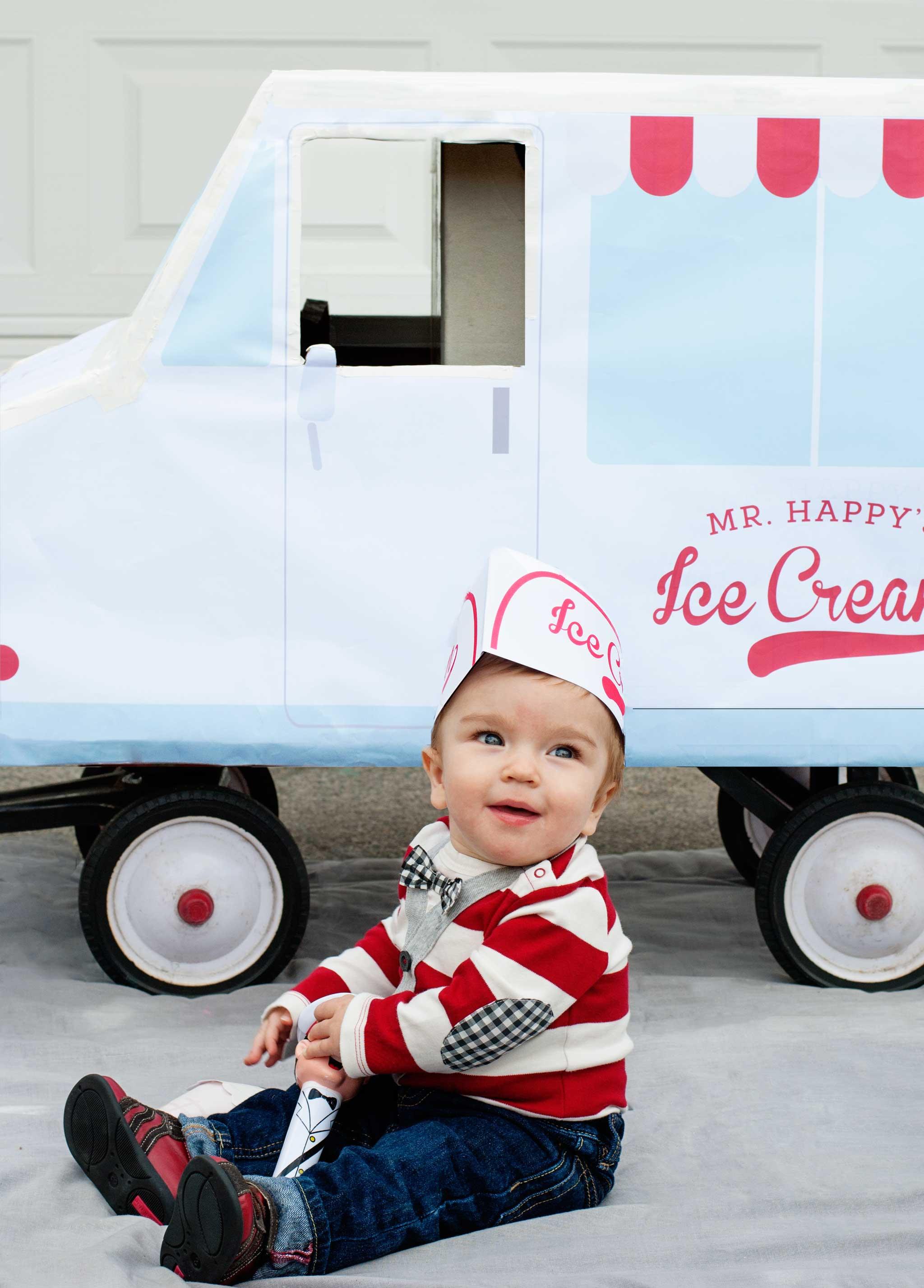 Diy Ice Cream Truck : cream, truck, Toddler, Cream, Costume, Project, Nursery